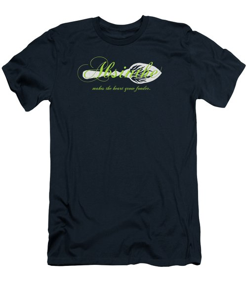 Absinthe Makes The Heart Grow Fonder - T-shirt Men's T-Shirt (Slim Fit) by Robert J Sadler