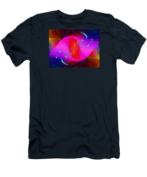 Men's T-Shirt (Slim Fit) featuring the digital art Abstract Cubed 354 by Tim Allen