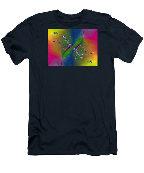 Men's T-Shirt (Slim Fit) featuring the digital art Abstract Cubed 356 by Tim Allen
