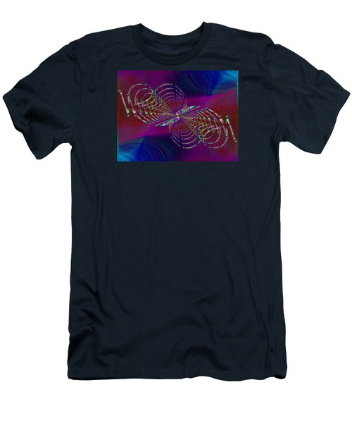 Men's T-Shirt (Slim Fit) featuring the digital art Abstract Cubed 369 by Tim Allen