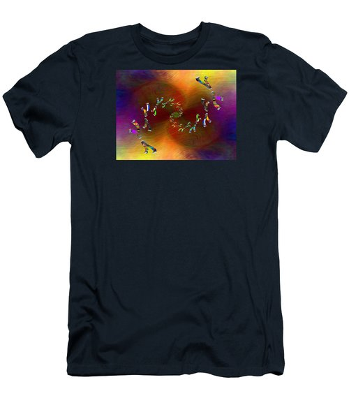 Men's T-Shirt (Slim Fit) featuring the digital art Abstract Cubed 375 by Tim Allen