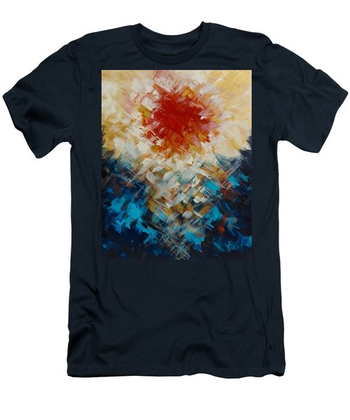 Abstract Blood Moon Men's T-Shirt (Athletic Fit)
