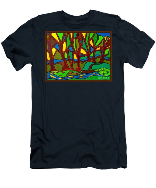 Abstract Of The Otter Pool Men's T-Shirt (Athletic Fit)