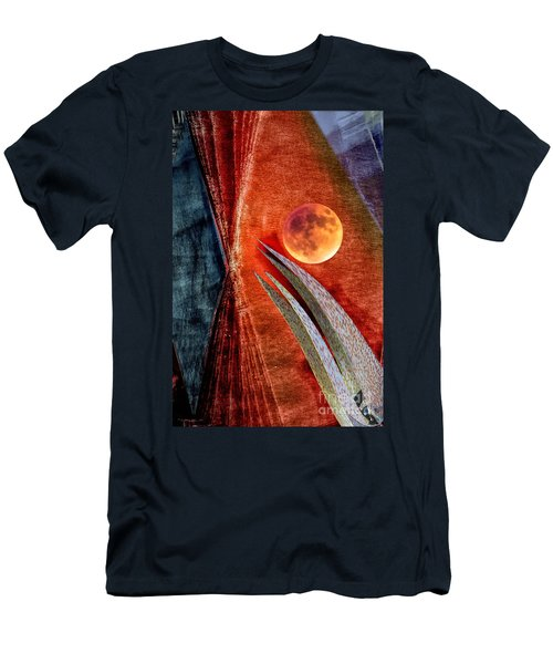 Abstract On Moon Men's T-Shirt (Athletic Fit)