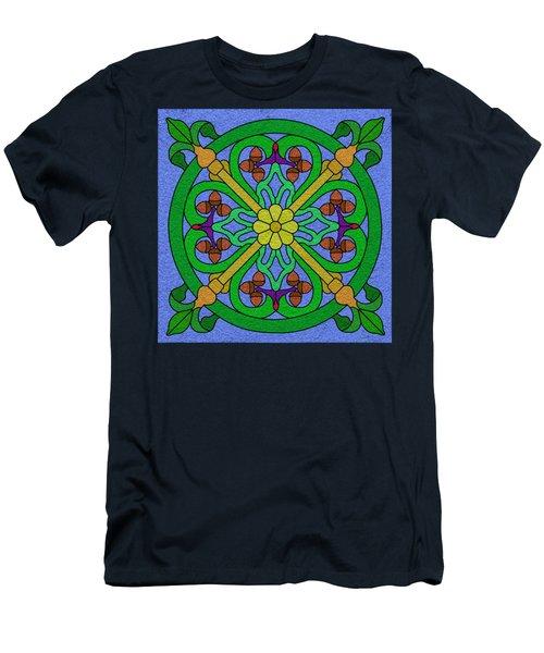Acorn On Blue Men's T-Shirt (Slim Fit) by Curtis Koontz