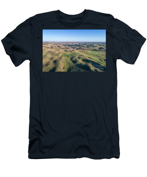 aerial view of Nebraska Sand Hills  Men's T-Shirt (Athletic Fit)