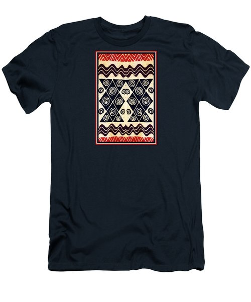 African Tribal Textile Design Men's T-Shirt (Athletic Fit)