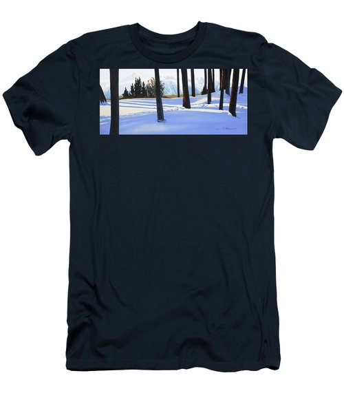 Afternoon In Snowy Mountains Men's T-Shirt (Athletic Fit)