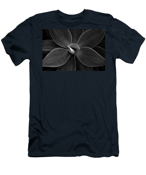 Agave Leaves Detail Men's T-Shirt (Slim Fit) by Marilyn Hunt