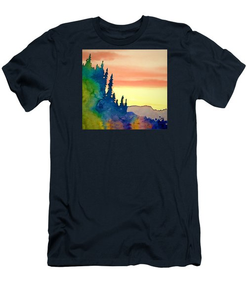 Alaskan Sunset Men's T-Shirt (Slim Fit) by Jan Amiss Photography