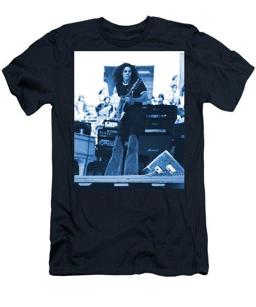 Allen Collins In Blue Oakland 1975 Men's T-Shirt (Athletic Fit)