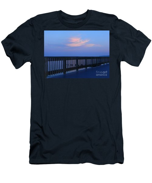 Men's T-Shirt (Slim Fit) featuring the photograph Alls Quiet On The Beach Front by Emmy Marie Vickers