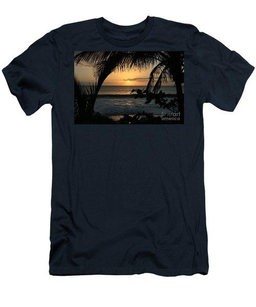 Aloha Aina The Beloved Land - Sunset Kamaole Beach Kihei Maui Hawaii Men's T-Shirt (Slim Fit) by Sharon Mau