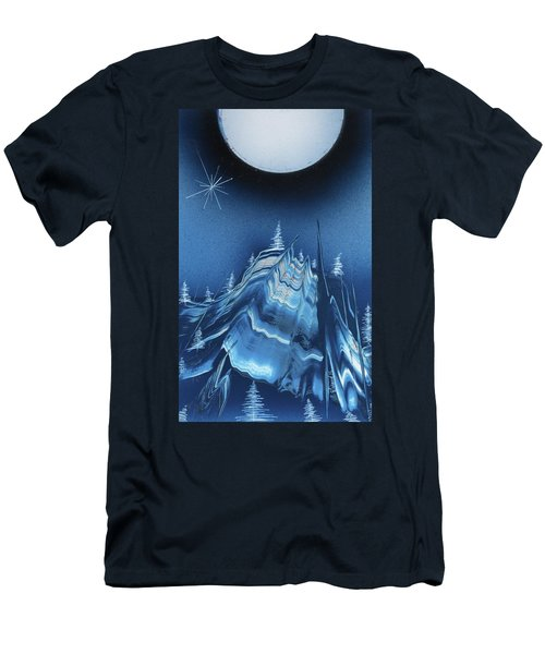 Alpine Ski Area Men's T-Shirt (Athletic Fit)
