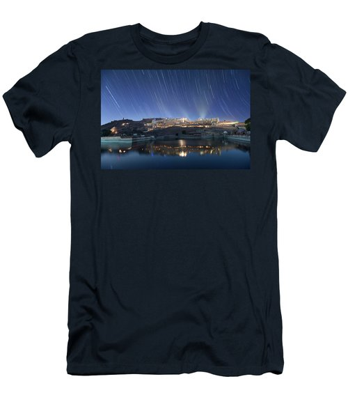 Men's T-Shirt (Athletic Fit) featuring the photograph Amber Fort After Sunset by Pradeep Raja Prints