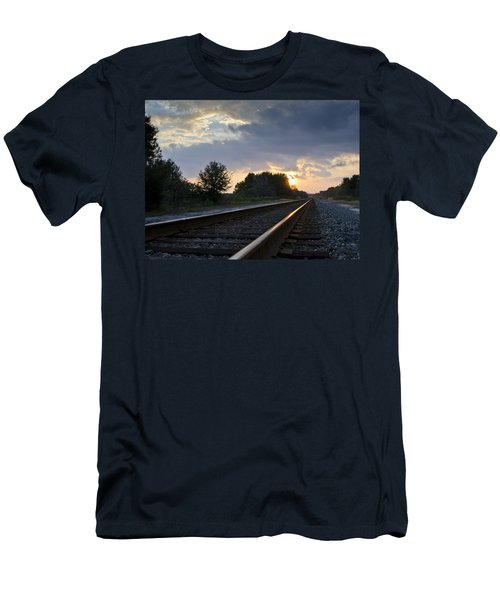 Amtrak Railroad System Men's T-Shirt (Athletic Fit)
