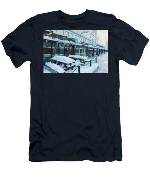 An Icy Quincy Market Men's T-Shirt (Athletic Fit)