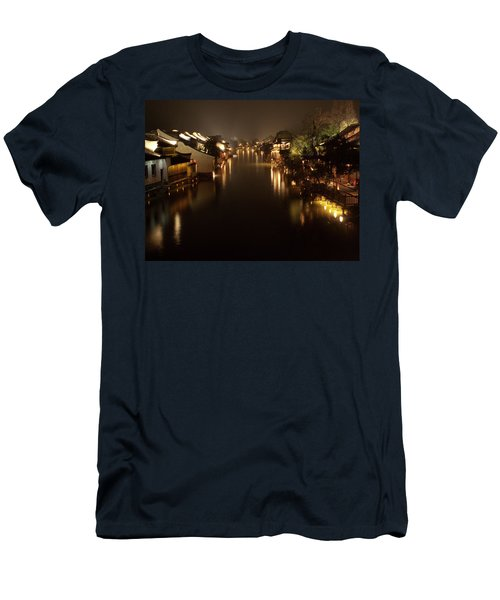 Ancient Chinese Water Town Men's T-Shirt (Athletic Fit)