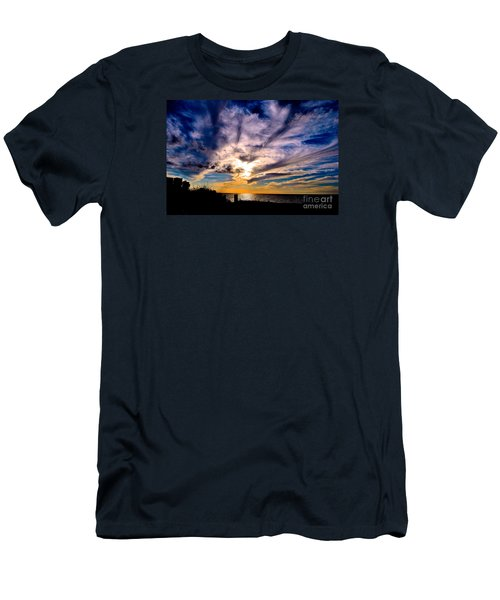 Men's T-Shirt (Slim Fit) featuring the photograph And Then There Was God by Margie Amberge