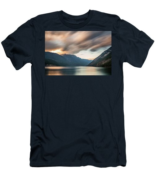 Men's T-Shirt (Athletic Fit) featuring the photograph Anderson Lake Dreamscape by Pierre Leclerc Photography