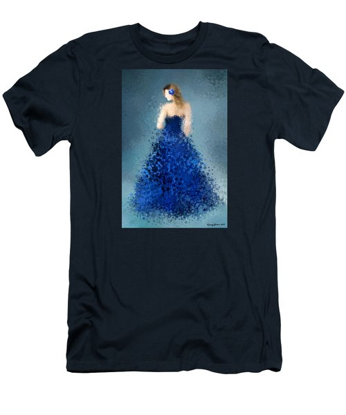 Men's T-Shirt (Slim Fit) featuring the digital art Angelica by Nancy Levan