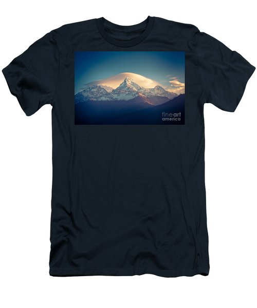 Annapurna Sunrise Himalayas Mountain Artmif Men's T-Shirt (Athletic Fit)