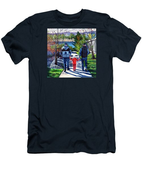 Anna's Grandpa's 2 Men's T-Shirt (Slim Fit) by Marilyn McNish