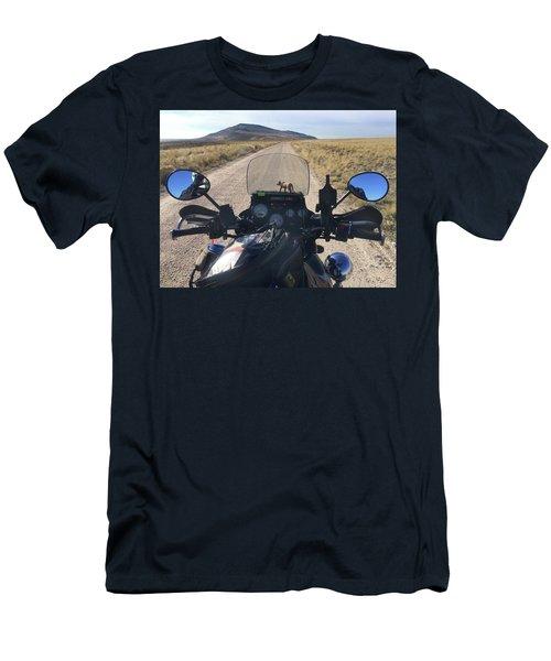Antelope Island Dirt Road Men's T-Shirt (Athletic Fit)