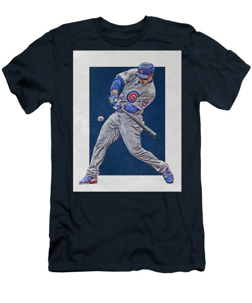 Anthony Rizzo Chicago Cubs Art 1 Men's T-Shirt (Athletic Fit)