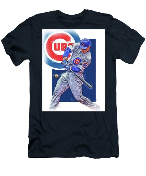 Anthony Rizzo Chicago Cubs Oil Art Men's T-Shirt (Athletic Fit)