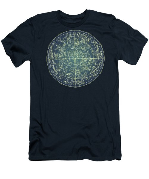 Antique Constellation Of Northern Stars 19th Century Astronomy Men's T-Shirt (Athletic Fit)