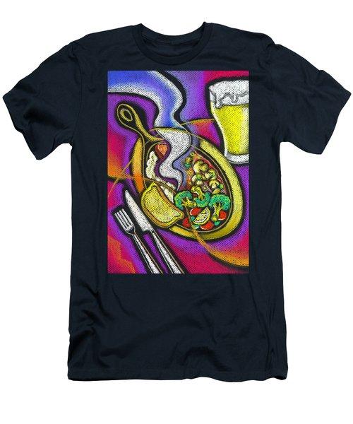 Appetizing Dinner Men's T-Shirt (Slim Fit) by Leon Zernitsky
