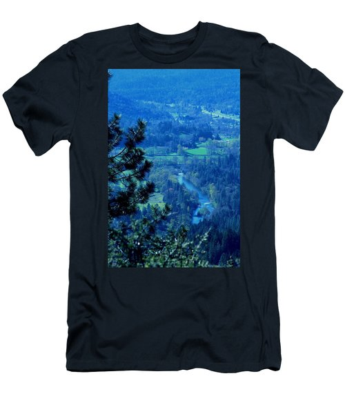 Men's T-Shirt (Slim Fit) featuring the photograph Applegate River From On Top Of Bolt Mountain by Marie Neder