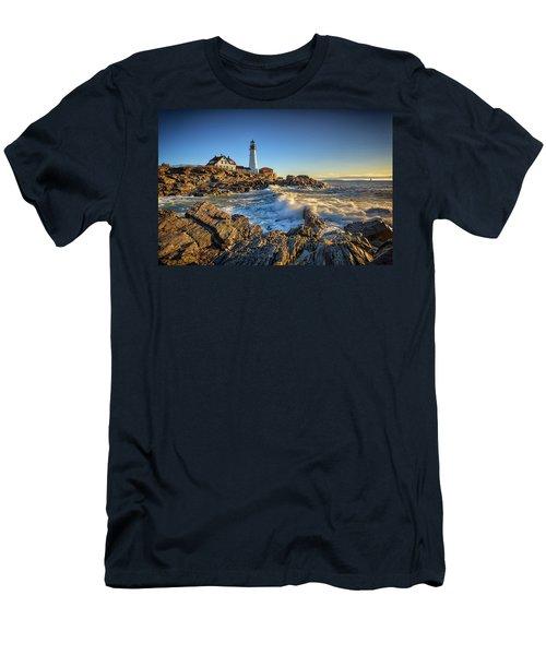 April Morning At Portland Head Men's T-Shirt (Athletic Fit)