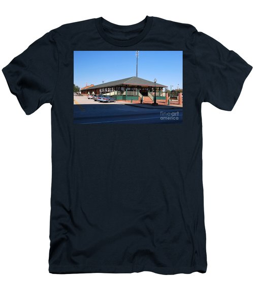 Arcadia Train Station Men's T-Shirt (Slim Fit) by Gary Wonning