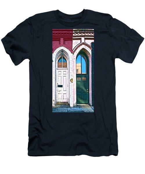 050 - Door One And Door Too Men's T-Shirt (Athletic Fit)