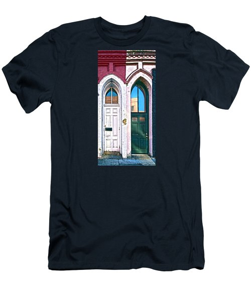 050 - Door One And Door Too Men's T-Shirt (Athletic Fit)