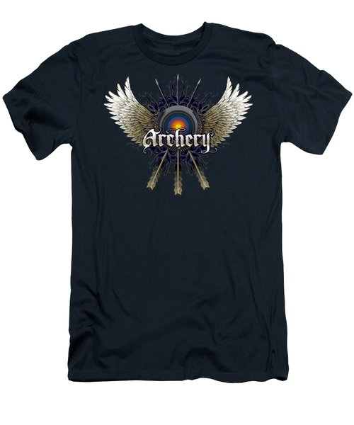 Archery Wings Men's T-Shirt (Slim Fit) by Rob Corsetti