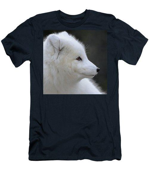 Arctic White Fox Portrait Men's T-Shirt (Athletic Fit)