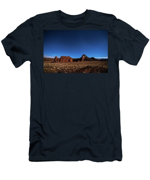 Arizona Landscape At Night Men's T-Shirt (Athletic Fit)