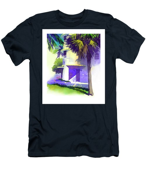 Art Deco Hotel Miami Men's T-Shirt (Athletic Fit)