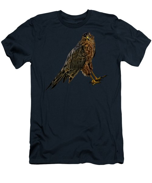 Men's T-Shirt (Athletic Fit) featuring the photograph Cooper's Hawk No.32 by Mark Myhaver