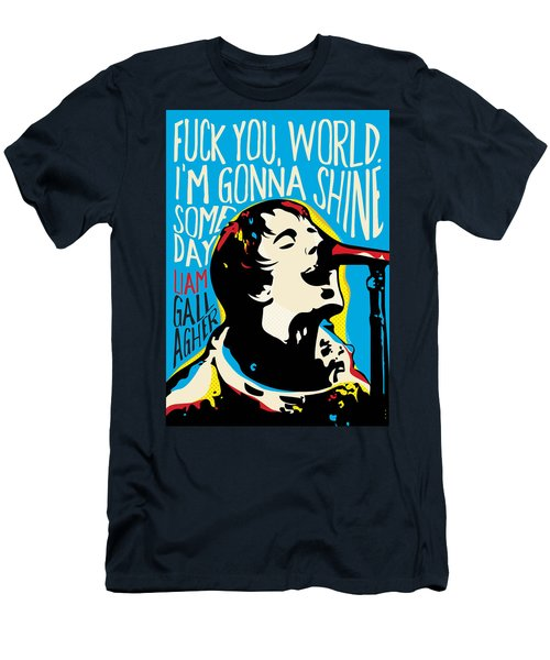 Liam Gallagher Quote Portrait Men's T-Shirt (Athletic Fit)
