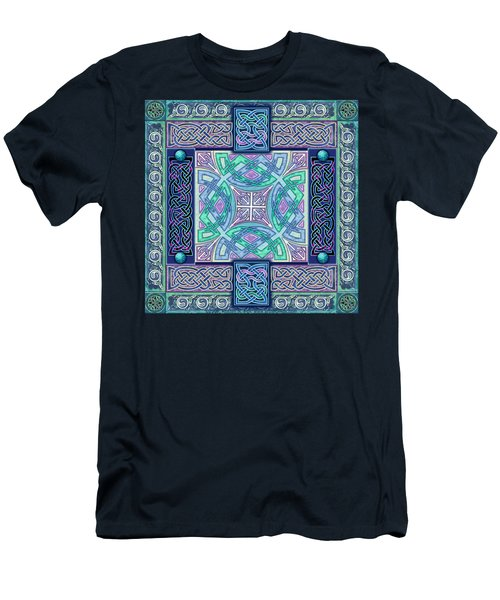 Men's T-Shirt (Slim Fit) featuring the mixed media Celtic Atlantis Opal by Kristen Fox