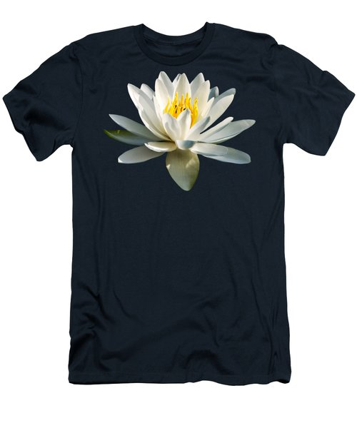 White Water Lily Men's T-Shirt (Slim Fit) by Christina Rollo