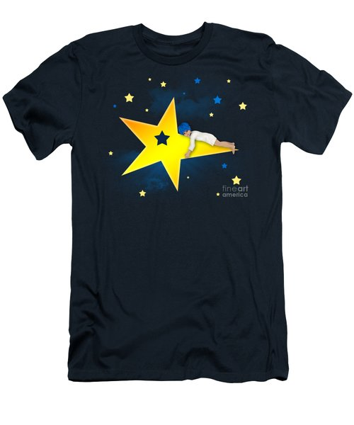 Star Child Men's T-Shirt (Slim Fit) by Jutta Maria Pusl