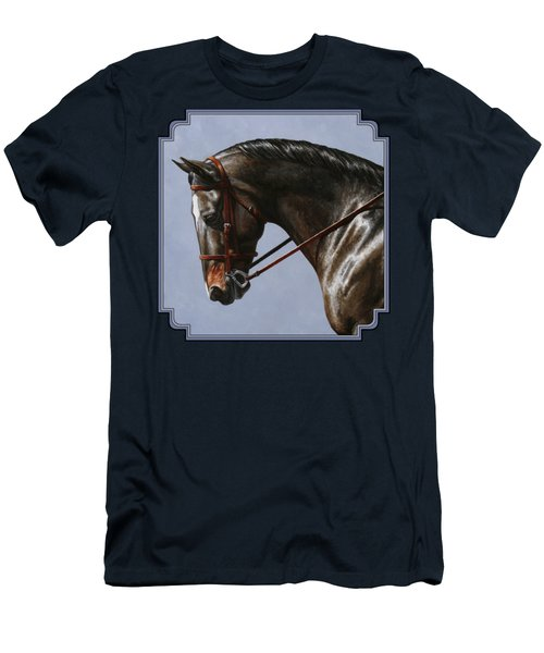 Horse Painting - Discipline Men's T-Shirt (Slim Fit) by Crista Forest