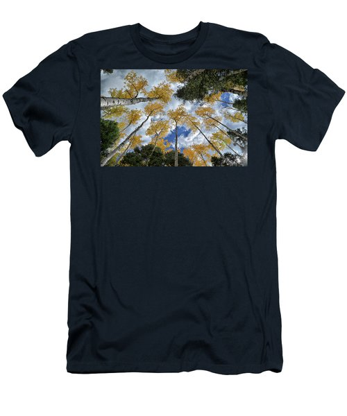 Men's T-Shirt (Slim Fit) featuring the photograph Aspens Reaching by Kevin Munro
