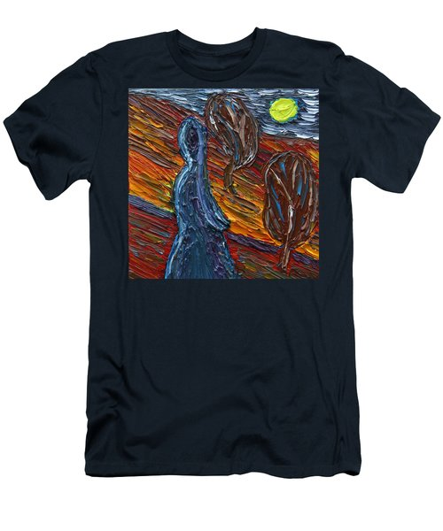 Men's T-Shirt (Slim Fit) featuring the painting Aspiration by Vadim Levin