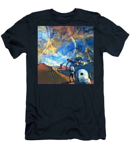 Astronauts On A Red Planet Men's T-Shirt (Athletic Fit)